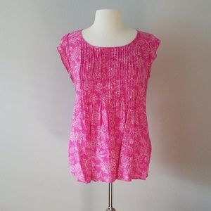 Old * Navy * Pink * Short * Sleeved * Blouse